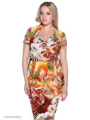 Платье МадаМ Т. Цвет: оранжевый, терракотовый