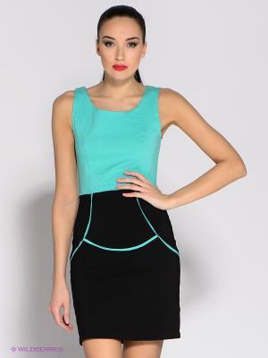 Платье Eunishop. Цвет: зеленый, черный