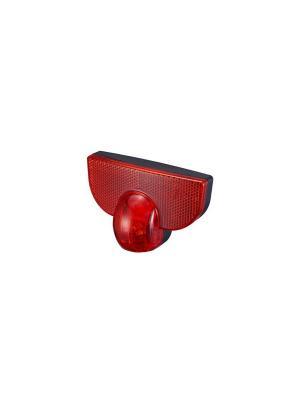 Лампа с 3 красными светодиодами и отражателем для велосипедного багажника D-light. Цвет: черный