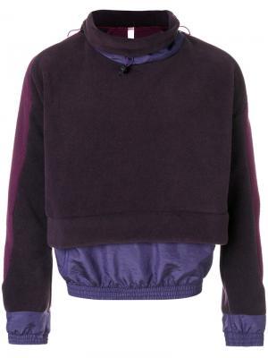 Drawstring layered jumper Cottweiler. Цвет: розовый и фиолетовый