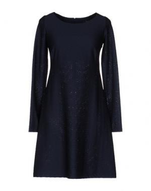 Короткое платье FISICO-CRISTINA FERRARI. Цвет: темно-синий