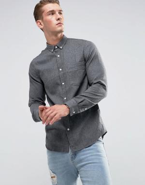 Just Junkies Рубашка с карманом на груди. Цвет: серый