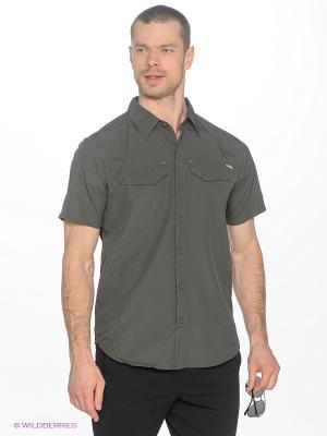 Рубашка Columbia. Цвет: темно-серый