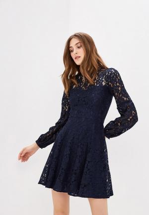 Платье Warehouse. Цвет: синий
