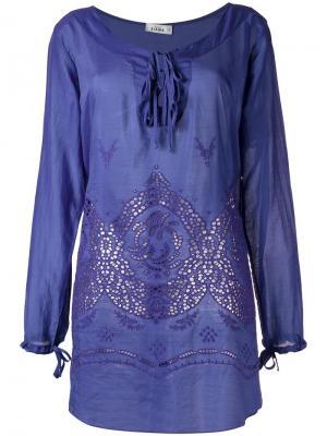 Panelled beach dress Amir Slama. Цвет: розовый и фиолетовый