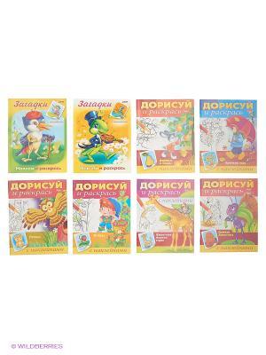 Комплект Раскраски с наклейками №3 (10 видов) Издательство Хатбер-пресс. Цвет: белый