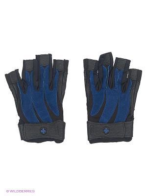 Перчатки для фитнеса мужские Bioform HARBINGER. Цвет: черный, синий