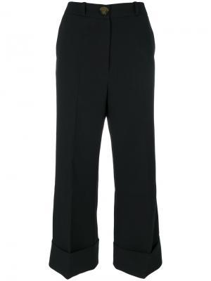 Укороченные брюки-палаццо A.W.A.K.E.. Цвет: чёрный