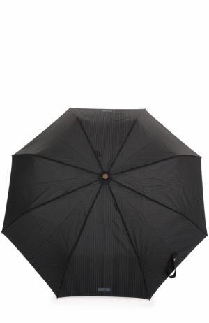 Складной зонт Moschino. Цвет: черный