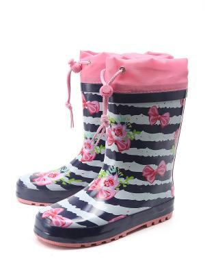 Резиновые сапоги Mursu. Цвет: розовый