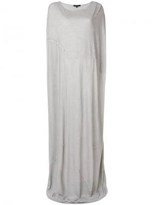 Длинное платье-кокон Unconditional. Цвет: телесный