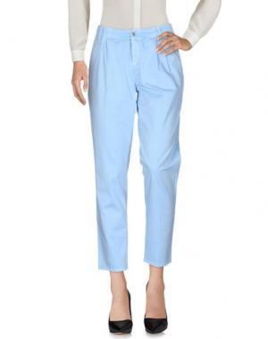 Повседневные брюки MET & FRIENDS. Цвет: небесно-голубой