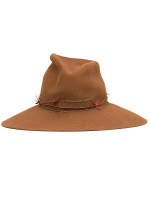 Шляпа Drake Gigi Burris Millinery. Цвет: коричневый