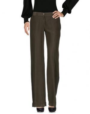 Повседневные брюки ASPESI. Цвет: темно-зеленый