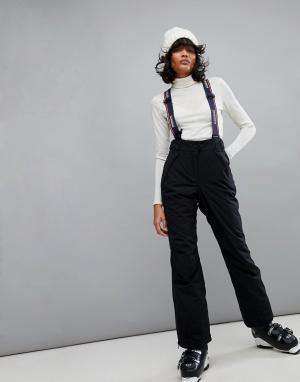 Napapijri Черные горнолыжные брюки. Цвет: черный