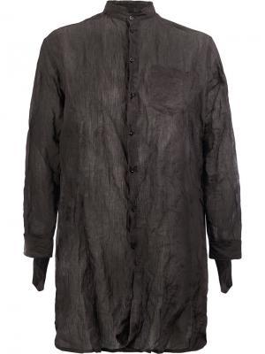 Удлиненная рубашка с мятым эффектом Yang Li. Цвет: розовый и фиолетовый