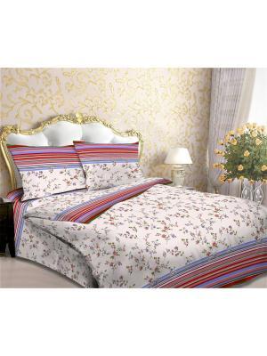 Комплект постельного белья Amore Mio  Line 2 сп.. Цвет: красный, кремовый, синий
