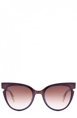 Солнцезащитные очки Fendi. Цвет: бесцветный