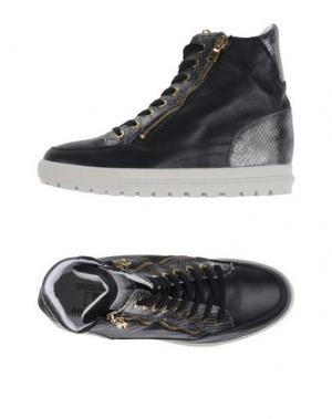 Высокие кеды и кроссовки D'ACQUASPARTA. Цвет: черный