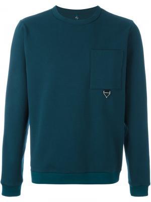 Толстовка с нагрудным карманом Oamc. Цвет: зелёный