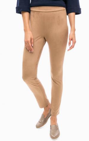 Укороченные бежевые брюки TRUCCO. Цвет: бежевый
