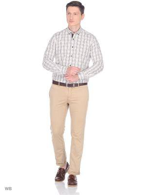 Рубашка Venturo. Цвет: коричневый, бежевый