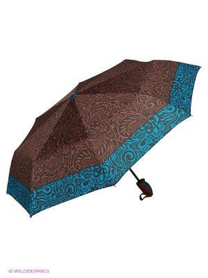 Зонты J&Elisabeth. Цвет: голубой, коричневый