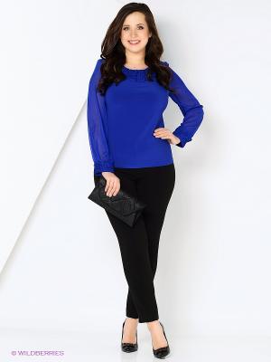 Блузка Полина. Цвет: темно-синий, черный