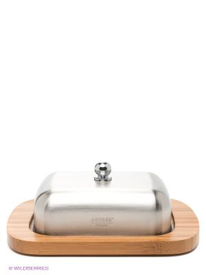 Масленка Premium Bekker. Цвет: бежевый, серебристый