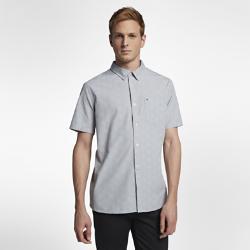 Мужская рубашка с коротким рукавом Hurley Pescado Oxford Nike. Цвет: серый