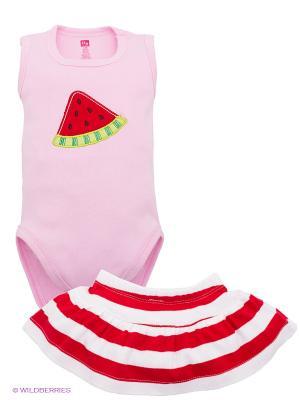 Комплект Hudson Baby. Цвет: розовый, белый, красный