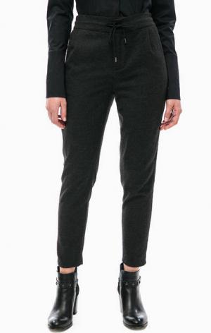 Серые брюки зауженного кроя DRYKORN. Цвет: серый