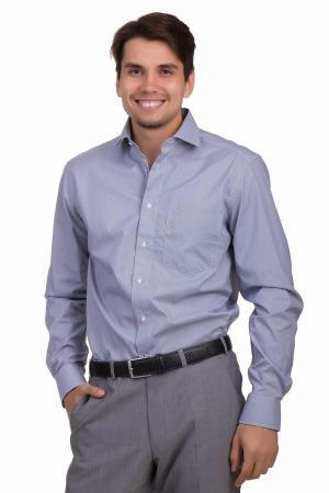 Рубашка с длинным рукавом Pezzo. Цвет: синий