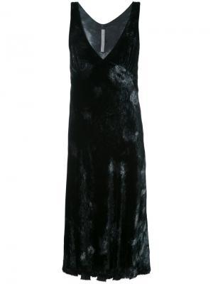 Бархатное платье с узором тай-дай Raquel Allegra. Цвет: чёрный