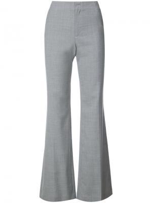 Расклешенные брюки на молнии Adeam. Цвет: серый