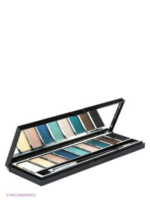 Набор тени т04 изумруд+бежевый Pupa. Цвет: черный, синий, зеленый, бирюзовый, темно-коричневый, серебристый, золотистый