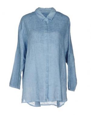 Pубашка 120% LINO. Цвет: пастельно-синий