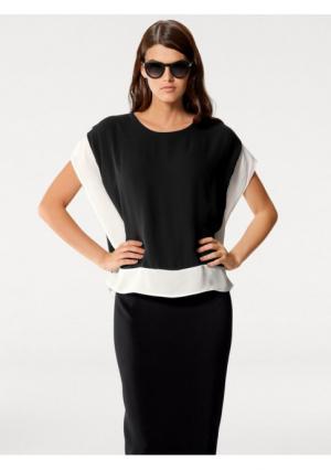 Блузка PATRIZIA DINI. Цвет: черный/экрю