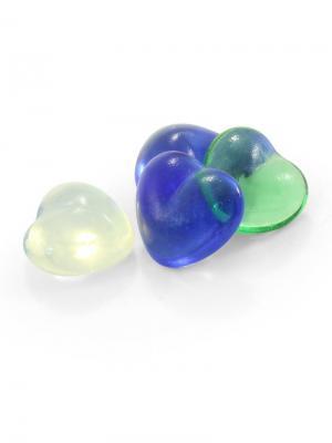 Грунт декоративный сердечко 35-40мм, 6 шт в сетке. LAGUNA. Цвет: синий, прозрачный, красный
