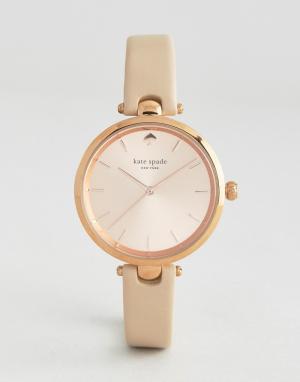 Kate Spade Часы цвета розового золота с кожаным ремешком New York. Цвет: золотой