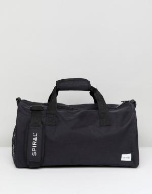Spiral Черная сумка дафл. Цвет: черный
