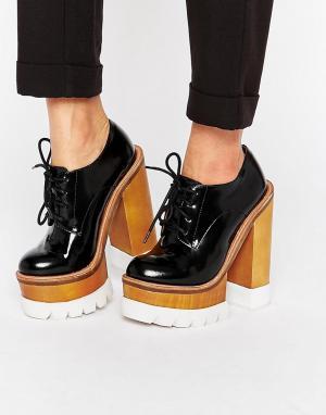 Jeffrey Campbell Массивные туфли на каблуке и платформе. Цвет: черный
