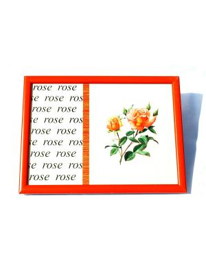 Поднос на подушке Роза La Pastel. Цвет: оранжевый
