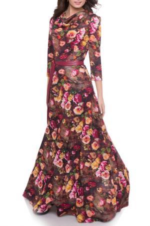 Платье Olivegrey. Цвет: терракотовый
