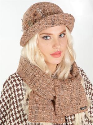 Шляпка, шарф LORICCI. Цвет: бежевый