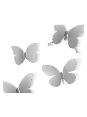 Декор Mariposa Umbra. Цвет: серебристый