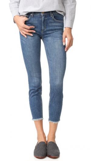 Укороченные джинсы-скинни Newton с необработанным низом McGuire Denim. Цвет: розовое дерево