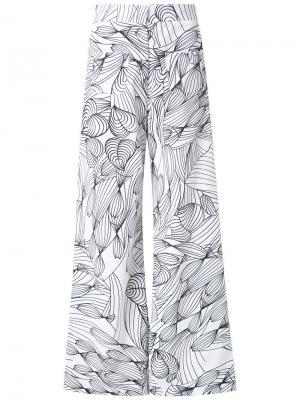 Льняные брюки Isolda. Цвет: белый