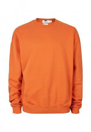 Свитшот Topman. Цвет: оранжевый