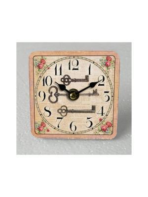 Часы настольные Волшебный ключик Magic Home. Цвет: белый